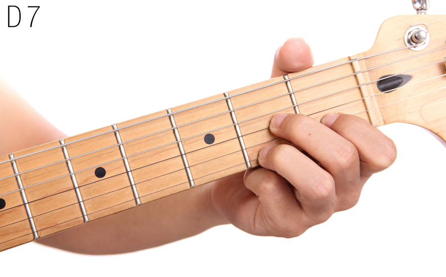 Play D7 Open Chord On Guitar Video And Guitar Lesson