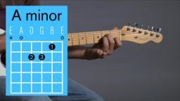 A minor guitar chord Video lesson and sound