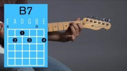 B7 guitar chord Video lesson and sound