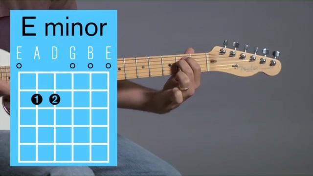 E minor guitar chord Video lesson and sound