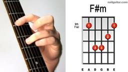 F# minor guitar chord Video lesson and sound