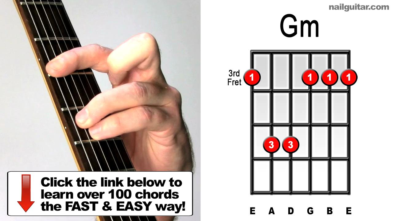 G minor guitar chord Video lesson and sound