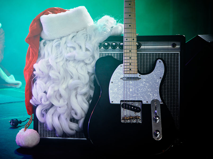 Santa plays rock