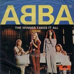 ABBA chords for The winner takes it all