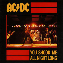 AC/DC bass tabs for You shook me all night long