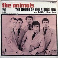 The Animals chords for House of the rising sun