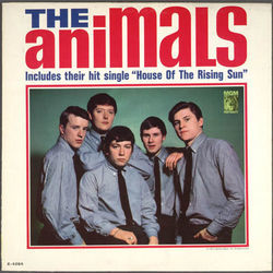 The Animals chords for House of the rising sun acoustic