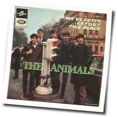 The Animals chords for We gotta get out of this place