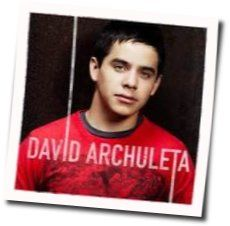 David Archuleta guitar chords for A little too not over you