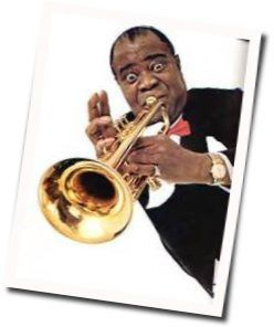 Louis Armstrong tabs for A kiss to build a dream on