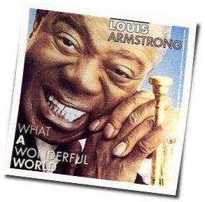 Louis Armstrong chords for What a wonderful world cant help falling love