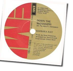 Barbara Ray chords for Down the mississippi