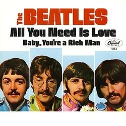 The Beatles guitar chords for All you need is love ukulele