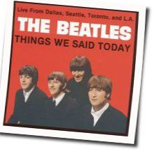 The Beatles bass tabs for Things we said today