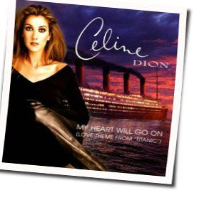 Celine Dion guitar chords for My heart will go on