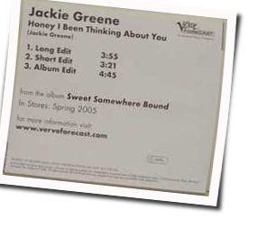 Greene Jackie guitar chords for Honey i been thinking about you