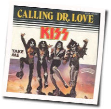 Kiss guitar chords for Calling dr love