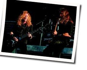 Megadeth guitar chords for Lying in state