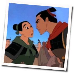 Misc Cartoons guitar chords for Mulan - ill make a man out of you