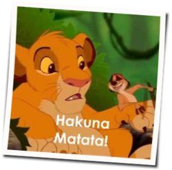 Misc Cartoons guitar chords for The lion king - hakuna matata ukulele