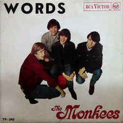 The Monkees chords for Words