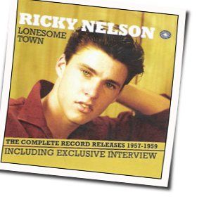 Ricky Nelson guitar chords for Lonesome town (Ver. 2)