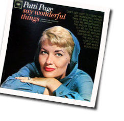 Patti Page chords for Fly me to the moon