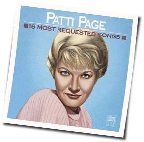 Patti Page chords for Raindrops keep falling on my head
