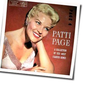 Patti Page guitar chords for There will never be another you