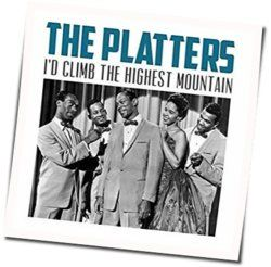 The Platters guitar chords for Id climb the highest mountain
