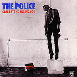 The Police guitar chords for Cant stand losing you
