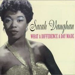 Sarah Vaughan bass tabs for What a difference a day makes