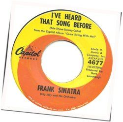 Frank Sinatra guitar chords for Ive heard that song before