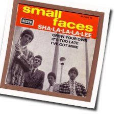 Small Faces guitar chords for Sha la la la lee