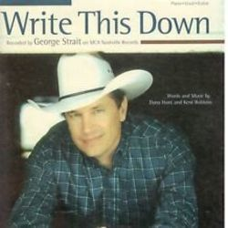 George Strait guitar tabs for Write this down