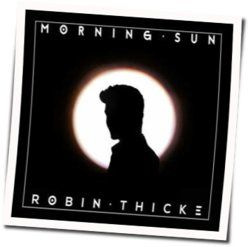 Robin Thicke chords for Morning sun