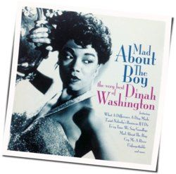 Dinah Washington guitar chords for Mad about the boy