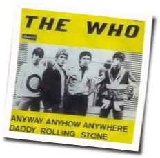 The Who guitar chords for Anyway anyhow anywhere