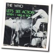 The Who guitar chords for Lets see action