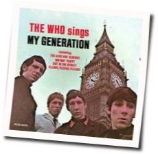 The Who guitar chords for My generation