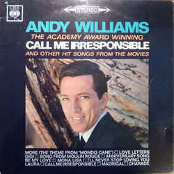 Andy Williams chords for Call me irresponsible